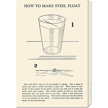 Global Gallery 'How to Make Steel Float' by Retromagic Vintage Advertisement on Wrapped Canvas