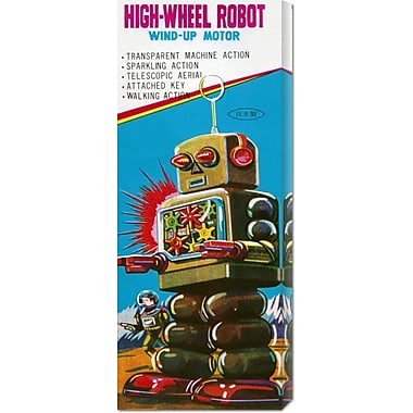 Global Gallery 'High-Wheeled Robot' by Retrobot Vintage Advertisement on Wrapped Canvas