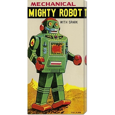 Global Gallery 'Mechanical Mighty Robot' by Retrobot Vintage Advertisement on Wrapped Canvas