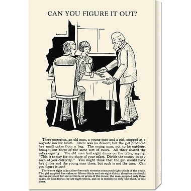 Global Gallery 'Can You Figure it Out' by Retromagic Vintage Advertisement on Wrapped Canvas