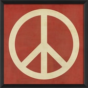 The Artwork Factory Peace Framed Graphic Art; Red/White