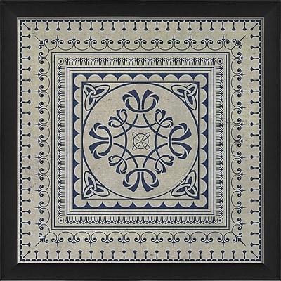 The Artwork Factory Tile 8 Framed Graphic Art; Blue