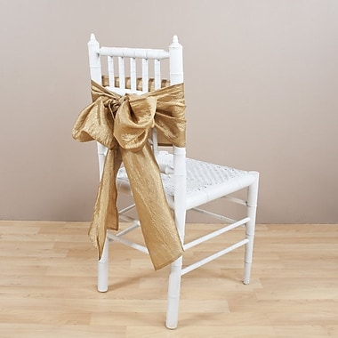 Saro Crushed Chair Tie; Champagne