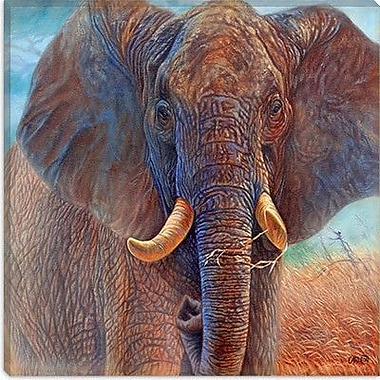 iCanvas 'Giant Elephant' by Cory Carlson Painting Print on Canvas; 18'' H x 18'' W x 0.75'' D