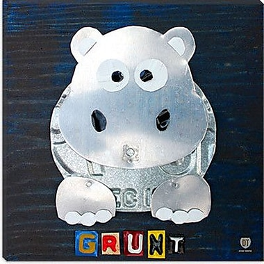 iCanvas Grunt Hippo from Design Turnpike Graphic Art on Canvas; 12'' H x 12'' W x 0.75'' D