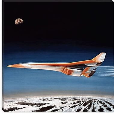 iCanvas Astronomy and Space Hypersonic Bomber Graphic Art on Canvas; 12'' H x 12'' W x 1.5'' D
