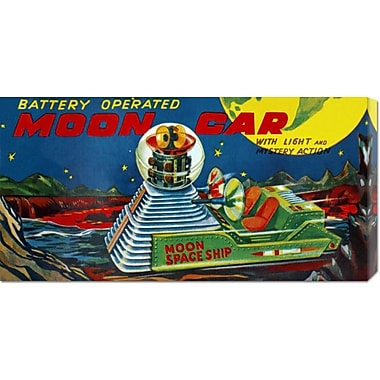 Global Gallery 'Moon Car' by Retrotrans Vintage Advertisement on Wrapped Canvas