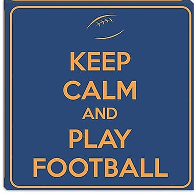 iCanvas Keep Calm and Play Football VII Textual Art on Canvas; 26'' H x 26'' W x 1.5'' D