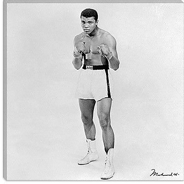 iCanvas 'Muhammad Ali Heavyweight Boxer 1963' by Celebrities Photographic Print on Canvas