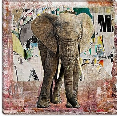 iCanvas ''Elephant Torn'' Poster by Luz Graphics Graphic Art on Canvas; 26'' H x 26'' W x 1.5'' D