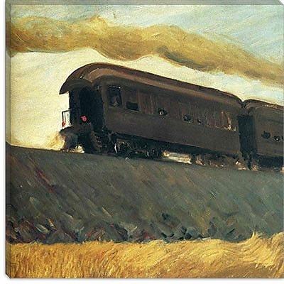iCanvas ''Railroad Train, 1908'' Canvas Wall Art by Edward Hopper; 37'' H x 37'' W x 0.75'' D