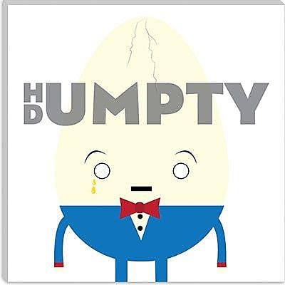 iCanvas Kids Children Humpty Dumpty Graphic Canvas Wall Art; 37'' H x 37'' W x 0.75'' D