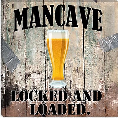 iCanvas ''Mancave III'' by Mindy Sommers Vintage Advertisement on Canvas; 12'' H x 12'' W x 0.75'' D