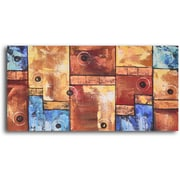 My Art Outlet Bouncing Balls on Stairs Painting on Wrapped Canvas