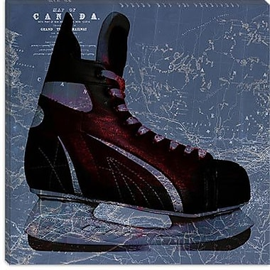 iCanvas Canada Hockey Ice Skates #5 Graphic Art on Canvas; 26'' H x 26'' W x 0.75'' D