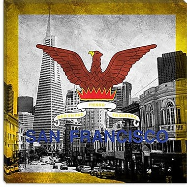 iCanvas Flags San Francisco Transamerica Pyramic Graphic Art on Canvas; 26'' H x 26'' W x 0.75'' D