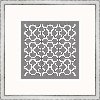 Melissa Van Hise Gray Geometrics I Framed Graphic Art