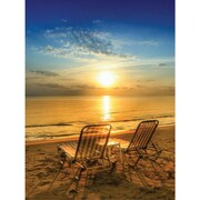 Island Way Outdoor Table for Two Photographic Print on Canvas
