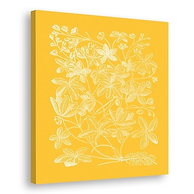 Melissa Van Hise Floral Impression III Graphic Art on Wrapped Canvas; Daffodil