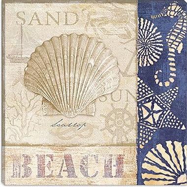 iCanvas ''White Sand Blue Sea II'' Canvas Wall Art by Veronique; 12'' H x 12'' W x 0.75'' D