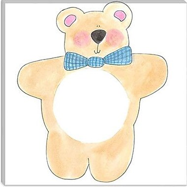 iCanvas ''Teddy Bear'' by Pat Yuille Painting Print on Wrapped Canvas; 18'' H x 18'' W x 0.75'' D