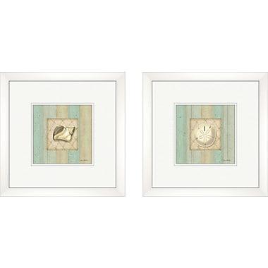 PTM Images Coastal Conch 2 Piece Framed Graphic Art Set