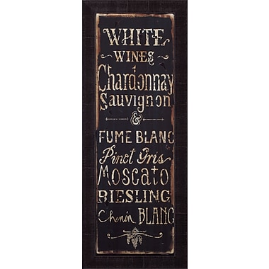 Art Effects White Wines by Luis Sanchez Framed Textual Art