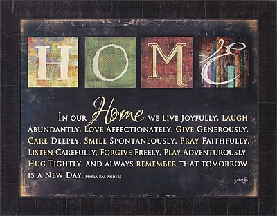 Art Effects In Our Home by Marla Rae Framed Textual Art