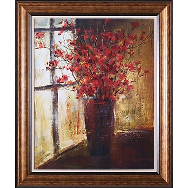 Art Effects Vase of Red Flowers by Christine Stewart Framed Painting Print