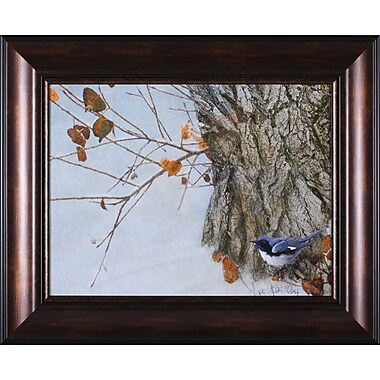 Art Effects Late Snow Warbler by Chris Vest Framed Graphic Art