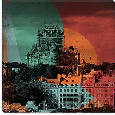 iCanvas Canada Quebec City, Frontenac Hotel #3 Graphic Art on Canvas; 18'' H x 18'' W x 1.5'' D