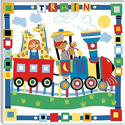 iCanvas ''Train II'' Canvas Wall Art by Cheryl Piperberg; 12'' H x 12'' W x 0.75'' D