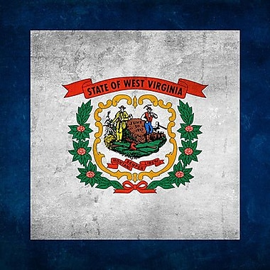 iCanvas Flags West Virginia Grunge Graphic Art on Wrapped Canvas; 18'' H x 18'' W x 0.75'' D