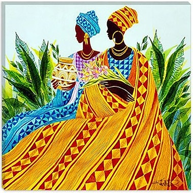 iCanvas ''Two Sisters'' by Keith Mallett Painting Print on Wrapped Canvas; 18'' H x 18'' W x 1.5'' D