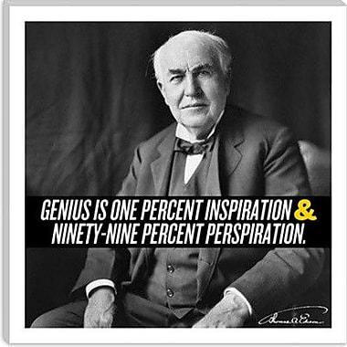 iCanvas Thomas Edison Quote Canvas Wall Art; 18'' H x 18'' W x 0.75'' D