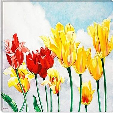 iCanvas 'Essence of Spring' by Nancy Wernersbach Painting Print on Canvas; 12'' H x 12'' W x 1.5'' D