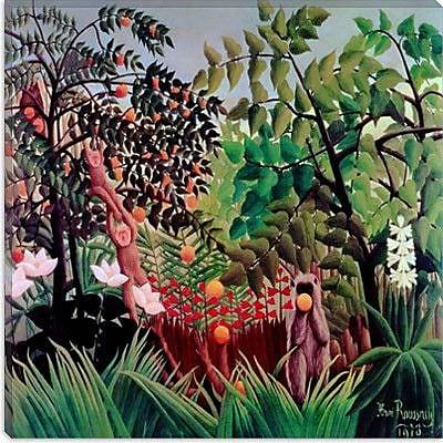 iCanvas ''Exotic Landscape, 1910'' Canvas Wall Art by Henri Rousseau; 12'' H x 12'' W x 1.5'' D