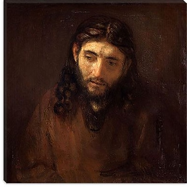 iCanvas 'Head of Christ' by Rembrandt Painting Print on Canvas; 26'' H x 26'' W x 0.75'' D
