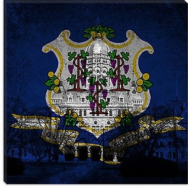 iCanvas Connecticut Flag, State Capitol Painting Print on Canvas; 18'' H x 18'' W x 0.75'' D