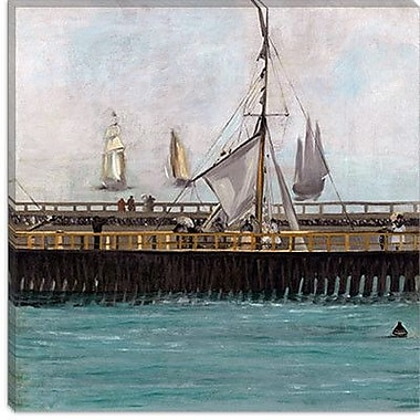 iCanvas 'Jetty at Boulogne' by Edouard Manet Painting Print on Canvas; 12'' H x 12'' W x 0.75'' D