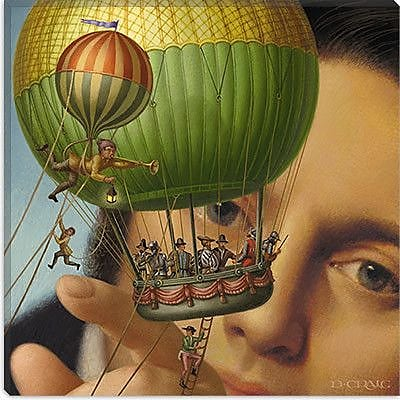 iCanvas 'Gulliver''s Travels' by Dan Craig Graphic Art on Canvas; 12'' H x 12'' W x 1.5'' D