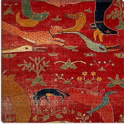 iCanvas File Carpet from Indian Mughal Empire Painting Print on Canvas; 26'' H x 26'' W x 1.5'' D
