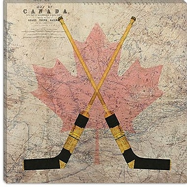 iCanvas Canada Hockey Sticks #5 Graphic Art on Canvas; 26'' H x 26'' W x 0.75'' D