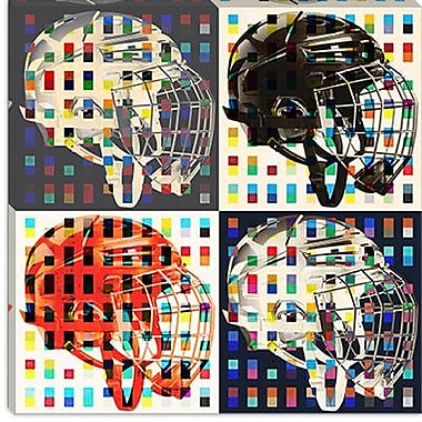 iCanvas Canada Hockey Mask #6 Graphic Art on Canvas; 18'' H x 18'' W x 0.75'' D