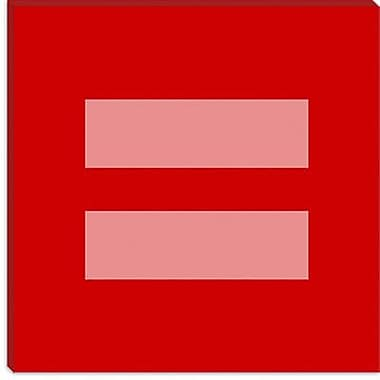 iCanvas Flags Equality Sign, Equal Rights Symbol Graphic Art on Canvas; 12'' H x 12'' W x 1.5'' D