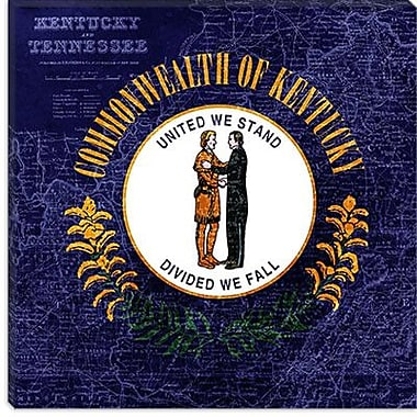 iCanvas Kentucky Flag, Map Graphic Art on Canvas; 12'' H x 12'' W x 1.5'' D