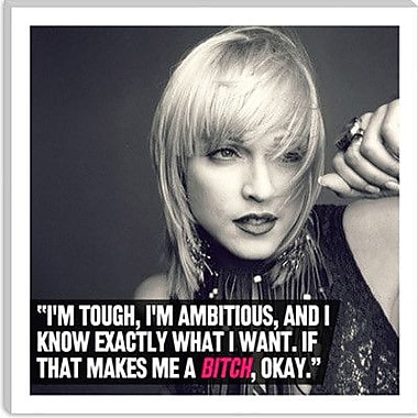 iCanvas Madonna Quote Graphic Art on Canvas; 18'' H x 18'' W x 0.75'' D