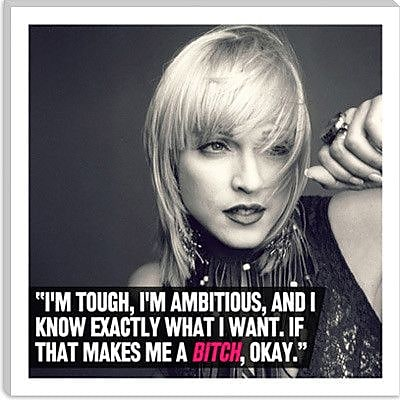 iCanvas Madonna Quote Graphic Art on Canvas; 26'' H x 26'' W x 0.75'' D