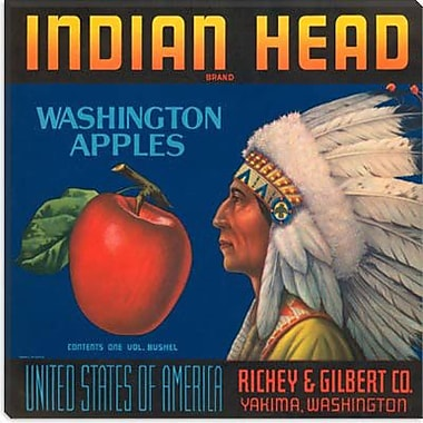 iCanvas Indian Head Apples Crate Label Vintage Advertisement on Canvas; 26'' H x 26'' W x 1.5'' D