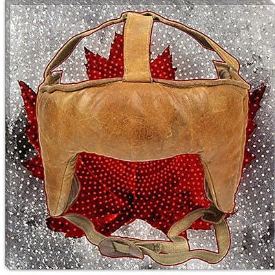 iCanvas Canada Hockey Mask #7 Graphic Art on Canvas; 12'' H x 12'' W x 0.75'' D